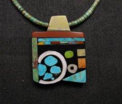 Mary Tafoya Santo Domingo Multi-Stone Inlay Turquoise Heishi Necklace