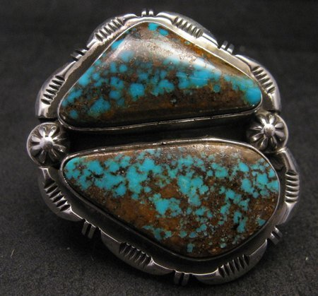 Image 4 of *WOW* Persian Turquoise Navajo Native American Silver Ring Dean Sandoval sz7