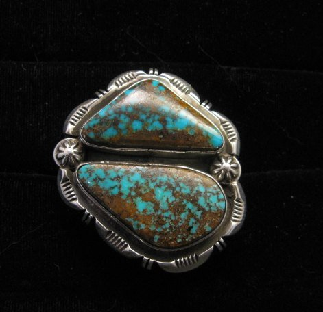 Image 8 of *WOW* Persian Turquoise Navajo Native American Silver Ring Dean Sandoval sz7