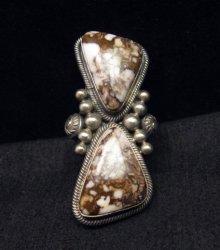 Gloria Begay Navajo 2-stone Wild Horse Sterling Silver Ring sz9