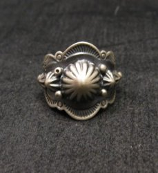 Gene Natan Navajo Indian Old Pawn Style Sterling Silver Ring sz6-3/4