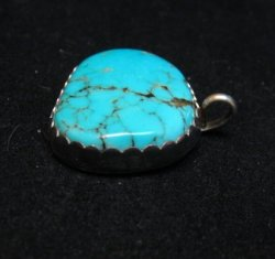 Vintage Southwestern Pawn Turquoise Inlay Turtle Ring sz7-1/2
