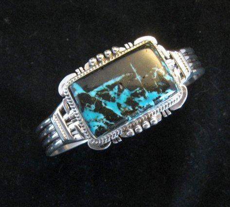 Image 1 of Navajo Native American Sunnyside Turquoise Bracelet, John Nelson