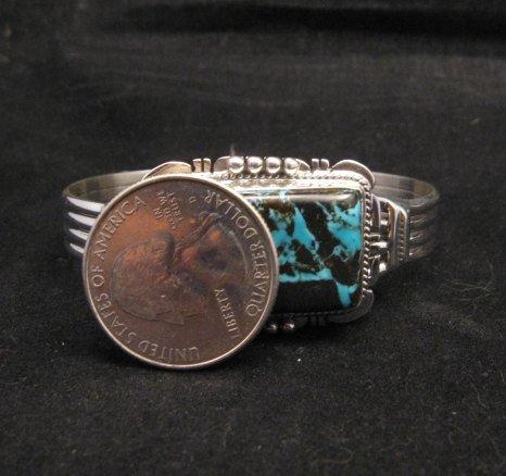 Image 5 of Navajo Native American Sunnyside Turquoise Bracelet, John Nelson