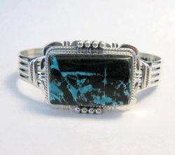 Navajo Native American Sunnyside Turquoise Bracelet, John Nelson