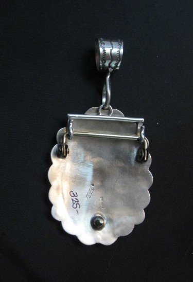 Image 5 of Navajo Stamped Sterling Silver Concho Belt Buckle, Joe Piaso Jr.