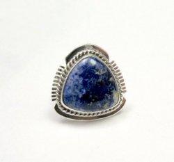 Navajo Native American Lapis Lazuli Ring sz6, Larson Lee