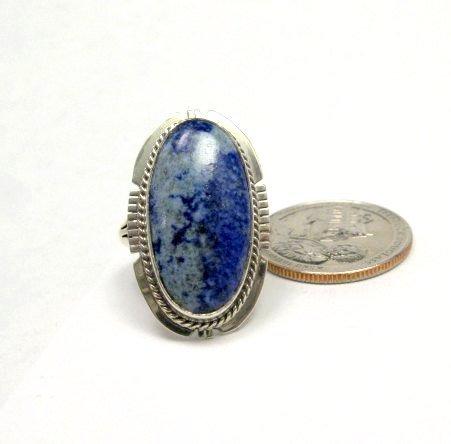 Image 0 of Navajo Native American Lapis Lazuli Ring sz8, Kathy Yazzie