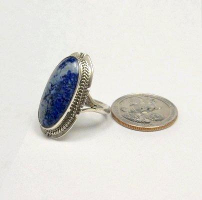 Image 3 of Navajo Native American Lapis Lazuli Ring sz8, Kathy Yazzie