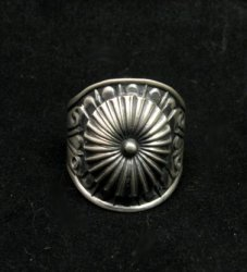Old Pawn Style Navajo Sterling Silver Ring Sz12-3/4, Derrick Gordon