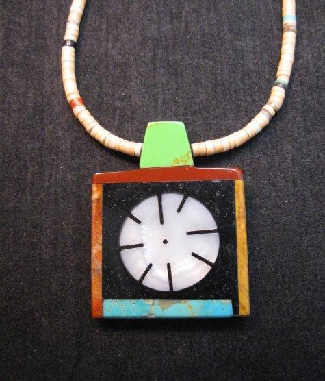 Image 0 of Mary Tafoya Santo Domingo Indian Multi-Stone Inlay Necklace