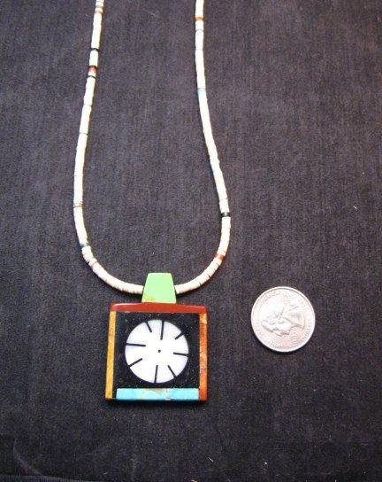 Image 2 of Mary Tafoya Santo Domingo Indian Multi-Stone Inlay Necklace