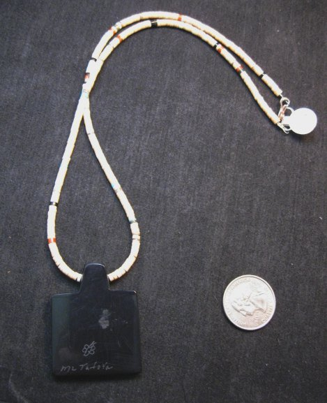 Image 3 of Mary Tafoya Santo Domingo Indian Multi-Stone Inlay Necklace