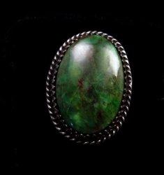 Archie Ganadonegro Navajo Sonoran Turquoise Ring sz7-1/2