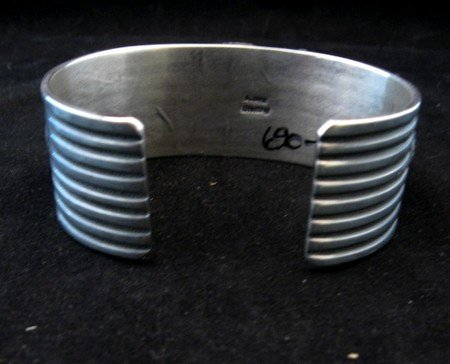 Image 5 of Native American Multistone Sterling Silver Bracelet, Albert Jake, Navajo