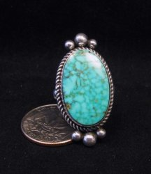 Native American Kingman Birdseye Turquoise Ring Sz8 by Albert Jake