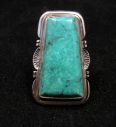 Native American Sierra Turquoise Silver Ring sz6, Evelyn Bahe