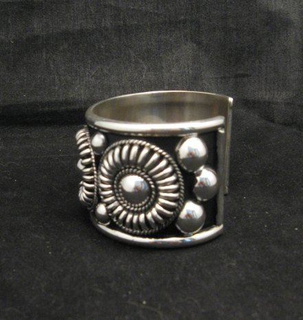 Image 1 of Native American Navajo Thomas & Colton Charley Sterling Silver Concho Bracelet