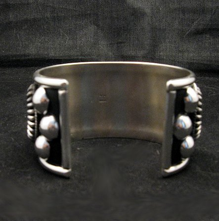 Image 5 of Native American Navajo Thomas & Colton Charley Sterling Silver Concho Bracelet