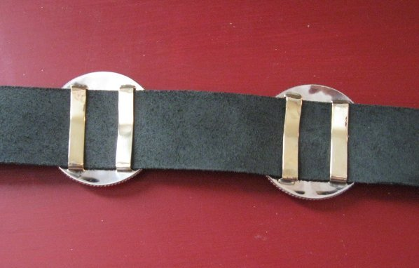 Image 7 of Thomas Charley Navajo Sterling Silver Concho Belt