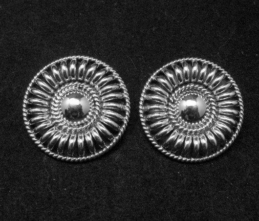 Image 0 of Native American Navajo Thomas Tom Charley Sterling Silver Earrings