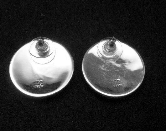 Image 3 of Native American Navajo Thomas Tom Charley Sterling Silver Earrings