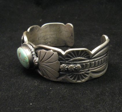 Image 3 of Navajo Native American Indian Jewelry Number 8 Turquoise Bracelet, Gilbert Tom