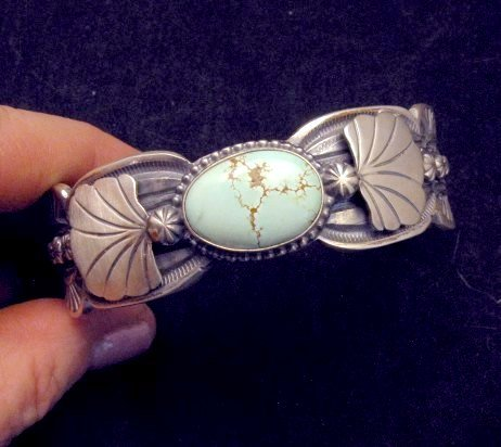 Image 1 of Navajo Native American Indian Jewelry Number 8 Turquoise Bracelet, Gilbert Tom