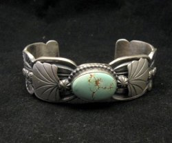 Navajo Native American Indian Jewelry Number 8 Turquoise Bracelet, Gilbert Tom