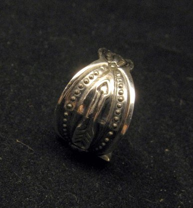 Image 4 of Darrell Cadman Navajo Revival Style Thunderbird Silver Unisex Ring sz9