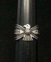 Darrell Cadman Navajo Revival Style Thunderbird Silver Unisex Ring sz9