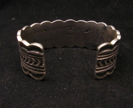 Image 4 of Navajo Indian Native American Turquoise Silver Bracelet, Joey Allen