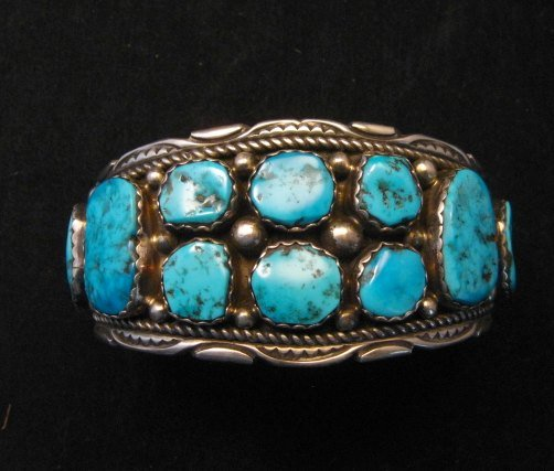 Image 0 of Quality Dead Pawn Native American Navajo Turquoise Cuff Bracelet