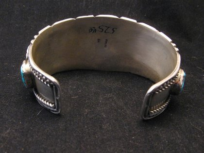 Image 4 of Quality Dead Pawn Native American Navajo Turquoise Cuff Bracelet