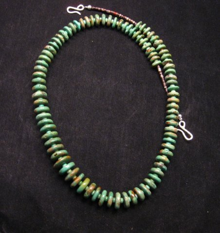 Image 2 of Navajo Turquoise Bead Necklace by Everett & Mary Teller