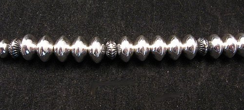 Image 6 of Navajo Everett & Mary Teller Turquoise Hammered Silver Necklace