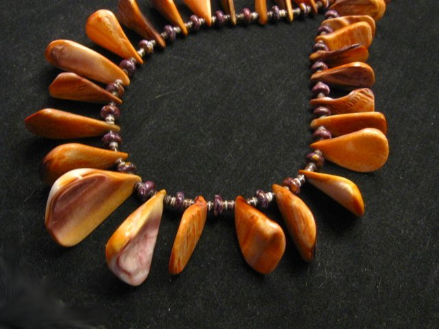 Image 3 of Unique Everett & Mary Teller Navajo Lion Paw Shell Necklace