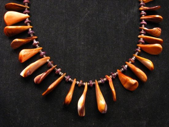 Image 8 of Unique Everett & Mary Teller Navajo Lion Paw Shell Necklace