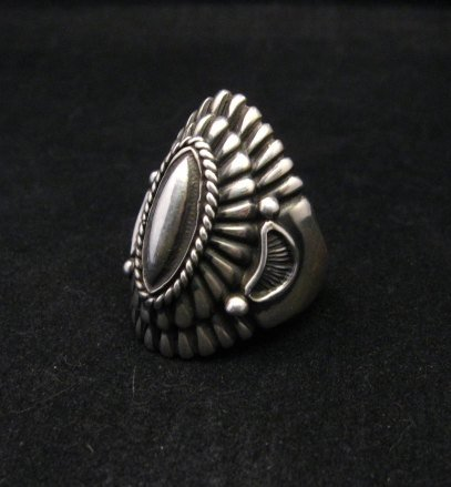 Image 2 of Navajo Harry H Begay Sterling Silver Ring sz10-1/4