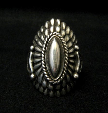 Image 6 of Navajo Harry H Begay Sterling Silver Ring sz10-1/4