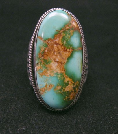 Image 0 of Bo Reeves Navajo Old Pawn Style Pilot Mtn Turquoise Ring sz7-1/2