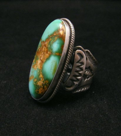 Image 1 of Bo Reeves Navajo Old Pawn Style Pilot Mtn Turquoise Ring sz7-1/2