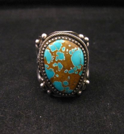 Image 0 of Navajo Native American Turquoise Silver Ring by Richard Jim sz8