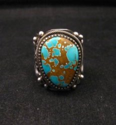 Navajo Native American Turquoise Silver Ring by Richard Jim sz8