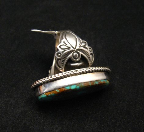 Image 3 of Big Albert Jake Navajo Native American Kingman Turquoise Ring Sz8-1/2