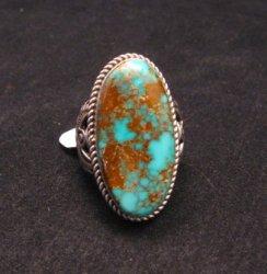 Big Albert Jake Navajo Native American Kingman Turquoise Ring Sz8-1/2