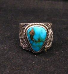 Navajo Native American Sunshine Reeves Kingman Turquoise Ring sz9-1/2