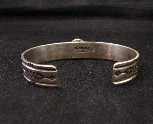 Image 5 of Narrow Navajo Wild Horse Sterling Silver Bracelet, Darrell Cadman