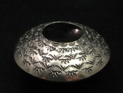 Navajo Stamped Sterling Silver Seed Pot, Everett & Mary Teller