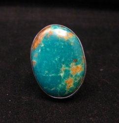 Big Navajo Everett & Mary Teller Manassa Turquoise Ring sz8-1/2